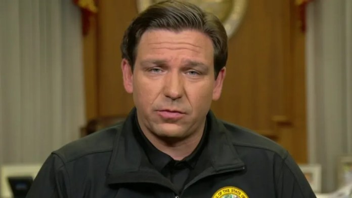 Florida Village.  Ron DeSantis decides to increase order to live in coronovirus spread in Super-Bowl