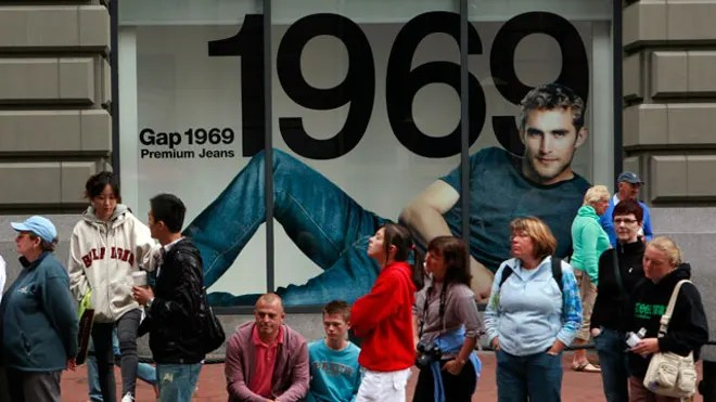 Shoppers at the Gap in San Francisco, Reuters