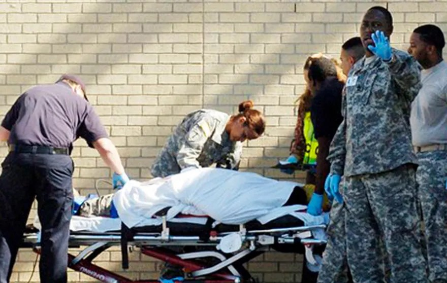 Emergency personnel at Fort Hood