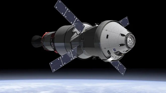 Jan. 16, 2013: An artist's concept of the Orion Service Module. When the Orion spacecraft blasts off atop NASA's Space Launch System rocket in 2017, attached will be the ESA-provided service module the powerhouse that fuels and propels the Orion spacecraft. (NASA)