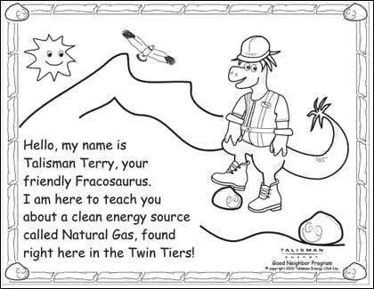 Energy Company Abandons 24-Page Coloring Book on Fracking