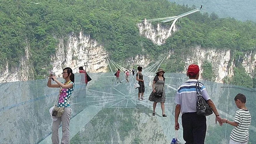 China is building the world s tallest and longest glass bridge fox