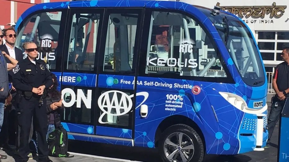A driverless shuttle in Las Vegas crashed just hours after it was unveiled Wednesday.