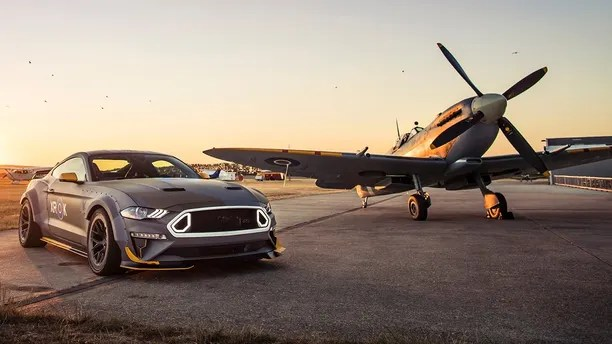 Ford Mustang and Spitfire aerial shoot.Goodwood and Beachy Head, England9th - 11th July 2018Photo: Drew Gibson