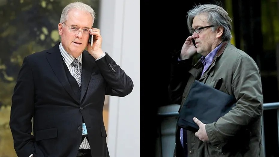Image result for photos of robert mercer and steve bannon