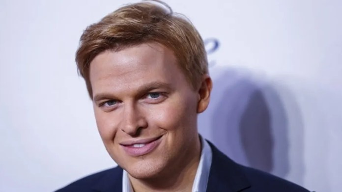 Ronan Farrow arrives for the opening night of the Women in the World summit in New York City, April 22, 2015.