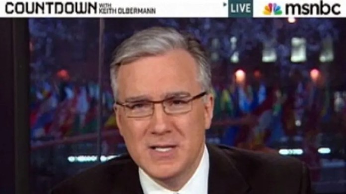"""Keith Olbermann anchors his old """"Countdown"""" show, Jan. 21, 2011."""