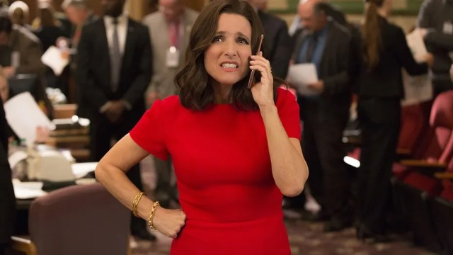 "Julia Louis-Dreyfus as Selina Meyer on HBO's ""Veep."""
