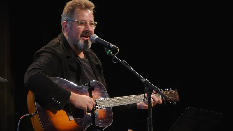 """Vince Gill performed his song """"Forever Changed"""" at the Country Music Hall of Fame and Museum's """"All for the Hall"""" Benefit on February 13, 2018 in New York City."""