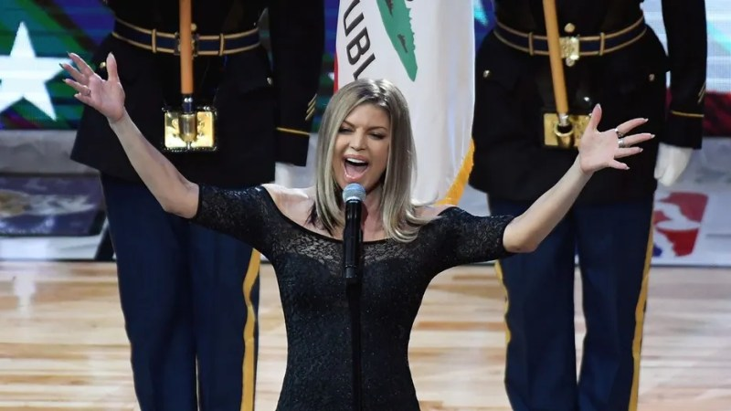 """Not everyone was on board with Fergie's alternate rendition of the """"Star-Spangled Banner,"""" which opened the All-Star game on Sunday."""