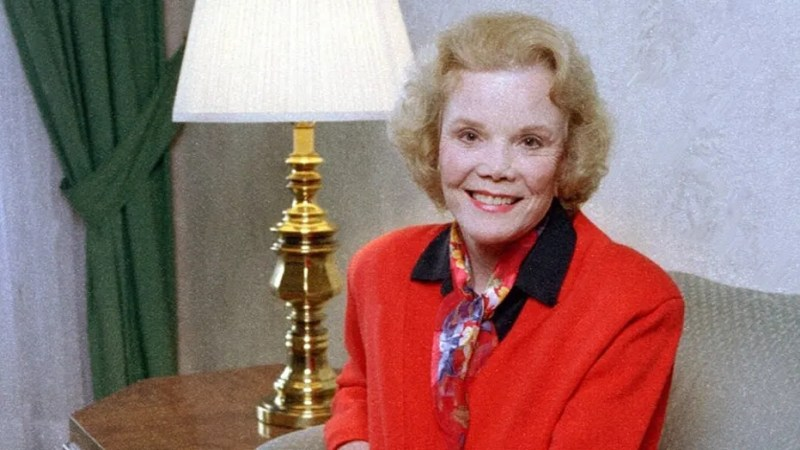 Nanette Fabray, seen in the above file photo from 1997, passed away Thursday at the age of 97, her son confirmed to media outlets.