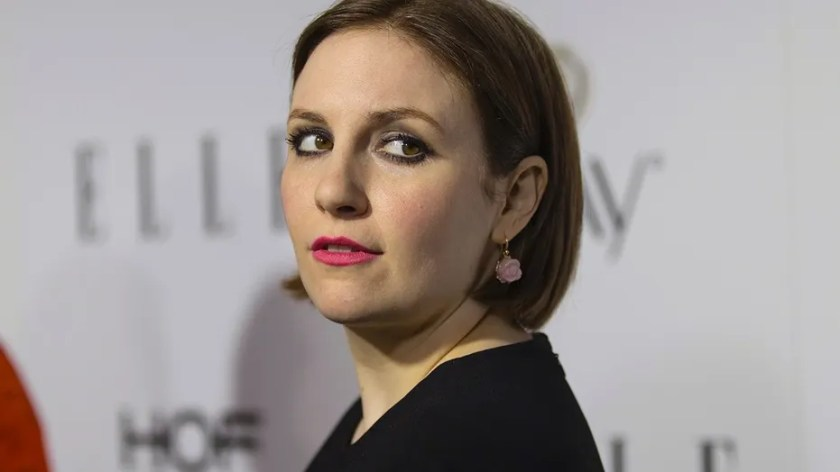 Actress Lena Dunham poses at Elle Magazine annual Women in Television dinner in Los Angeles, California January 13, 2015.