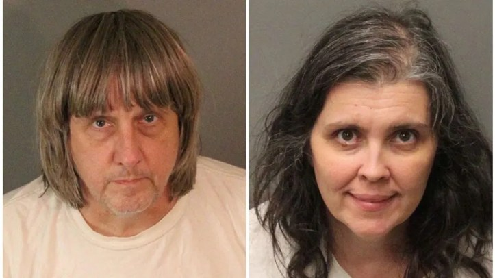 A combination photo of David Allen Turpin (L) and Louise Ann Turpin as they appear in booking photos provided by the Riverside County Sheriff's Department in Riverside County, California, U.S., January 15, 2018.