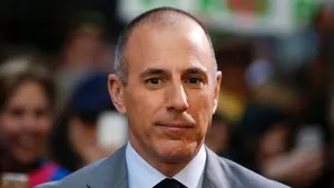 """Host Matt Lauer pauses during a break while filming NBC's """"Today"""" show at Rockefeller Center in New York, May 3, 2013. REUTERS/Lucas Jackson (UNITED STATES - Tags: ENTERTAINMENT) - GM1E9531S2T01"""