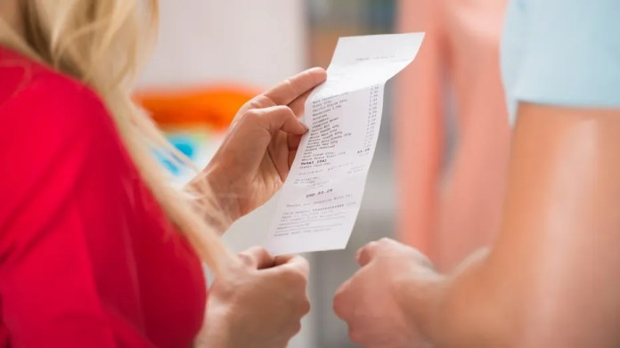 A server was fired after posting an offensive receipt on Facebook.