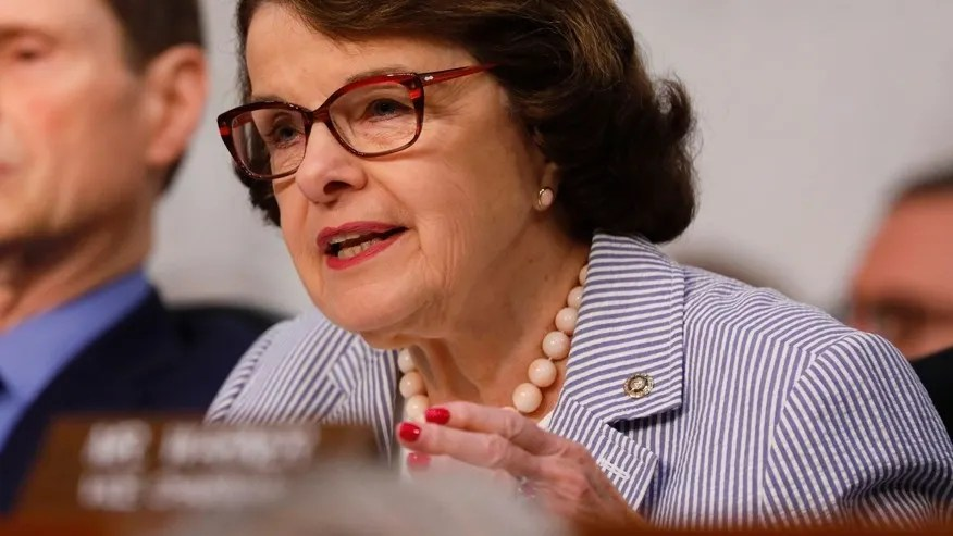 FILE -- June 8, 2017: Senator Dianne Feinstein, D-Calif., asks questions during former FBI Director James Comey's appearance before a Senate Intelligence Committee hearing on Russia's alleged interference in the 2016 U.S. presidential election in Washington.