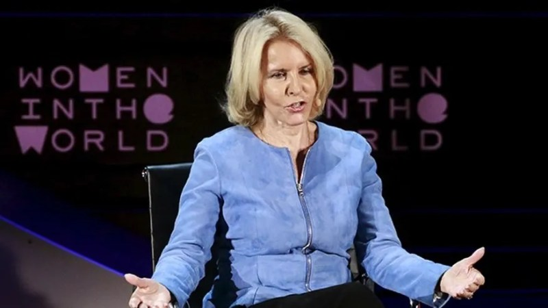Journalist Sally Quinn speaks during the Women In The World Summit in the Manhattan borough of New York April 8, 2016