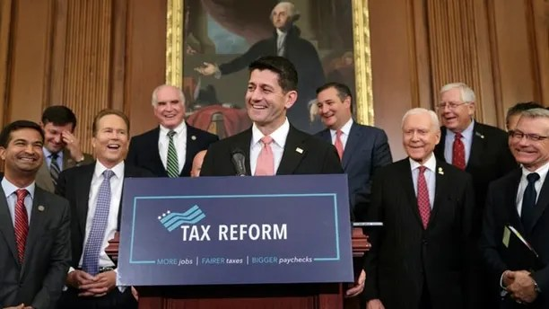 Image result for photos of trump and republicans selling tax cut plans