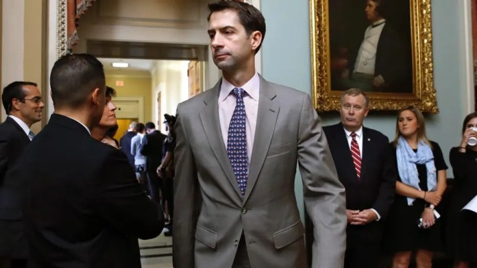 U.S. Sen. Tom Cotton, R-Ark., center, has spoken out against the Iran nuclear deal.