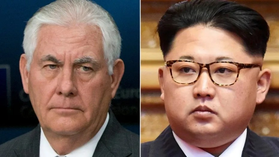 U.S. Secretary of State Rex Tillerson & North Korean Leader Kim Jong-Un