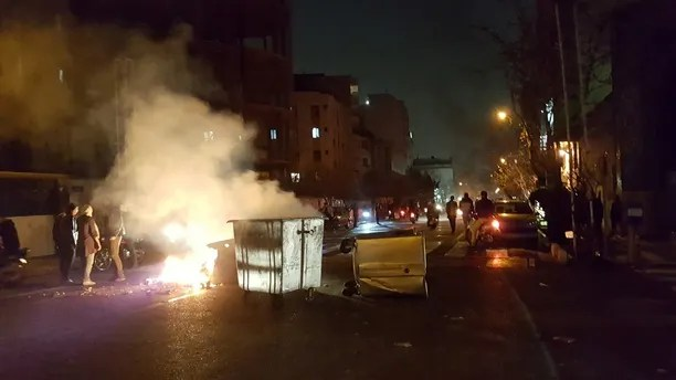 People protest in Tehran, Iran December 30, 2017 in in this picture obtained from social media. REUTERS. THIS IMAGE HAS BEEN SUPPLIED BY A THIRD PARTY. - RC1F4C4949E0