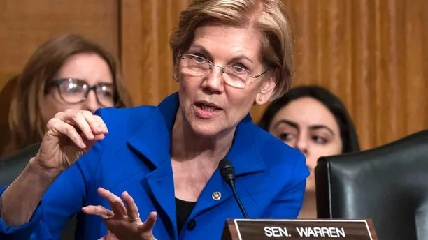 Sen. Elizabeth Warren, D-Mass., asks questions during a hearing of the Senate Health, Education, Labor, and Pensions Committee, on Capitol Hill in Washington, Tuesday, Dec. 12, 2017. (AP Photo/J. Scott Applewhite)