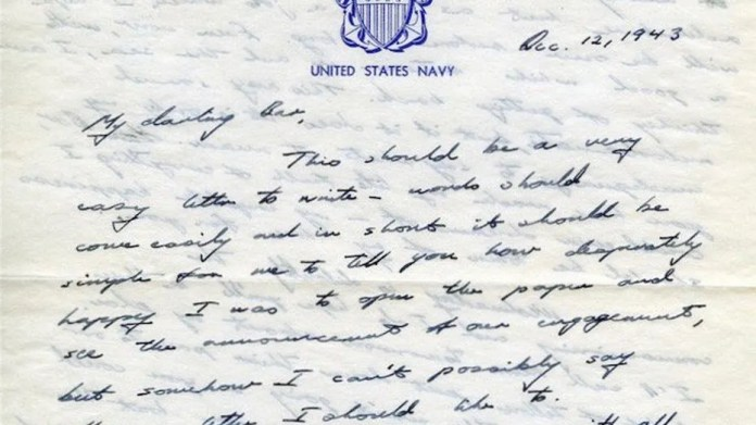 former president george hw bush sent barbara a love letter that she kept in her scrapbook
