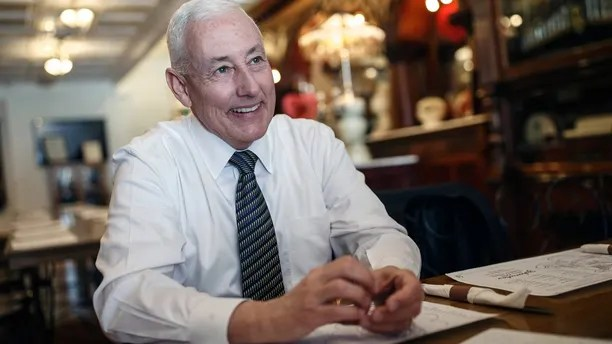 FILE - In this Monday, Feb. 5, 2018, file photo, Greg Pence talks about his congressional campaign during an interview at Zaharakos in Columbus, Ind. Pence is running for the 6th Congressional District seat currently held by Rep. Luke Messer. ( Mike Wolanin/The Republic via AP, File)