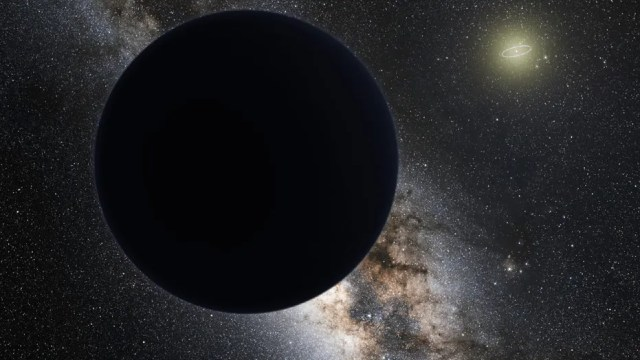 "A possible ""Planet Nine"" in Earth's solar system would orbit far beyond Neptune's orbit (visible as a bright ring around the sun in this artist's illustration)."