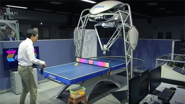 cannot display table tennis playing robot
