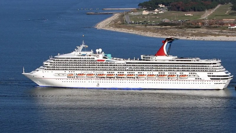"A 44-year-old woman is missing after being ""seen going overboard"" the Carnival Triumph cruise ship on Sunday."