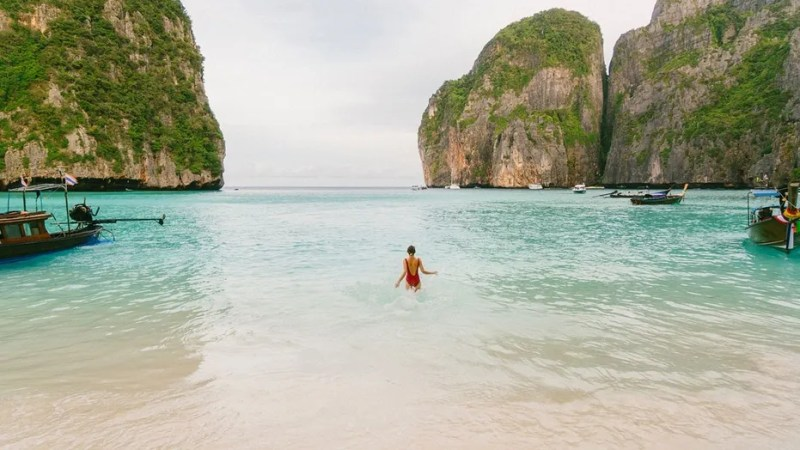 "The Phi Phi islands have been popular with tourists since they were featured in Danny Boyle's 2000 film ""The Beach,"" but authorities say visitors are contributing to the damage of the coral reefs."