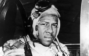 This circa 1950 photo released by the U.S. Navy shows Jesse Brown in the cockpit of an F4U-4 Corsair fighter at an unidentified location. Brown, the first African-American naval aviator, died when he crashed behind enemy lines during the Korean War. Fellow aviator Thomas Hudner crash-landed his own plane in a futile attempt to save Brown. A U.S. Navy frigate was named for Brown in 1973. A U.S. Navy destroyer will be named for Hudner, where he is expected to attend the ceremony at age 92, Saturday, April 1, 2017, in Bath, Maine. (U.S Navy via AP)