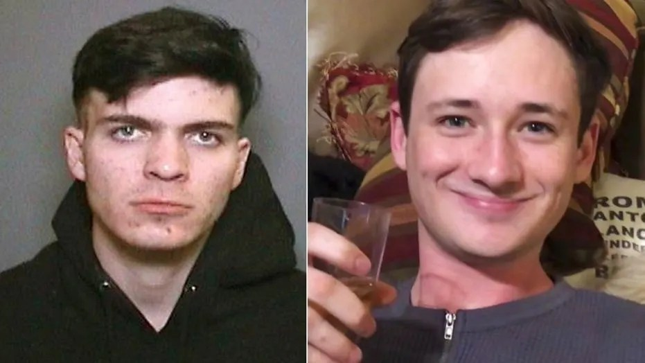 Blaze Bernstein, right, went to the park with high school friend Samuel Woodward on Jan. 2, authorities said. Woodward was arrested in Bernstein's death on Friday.  (Orange County Sheriff's Department / Associated Press)