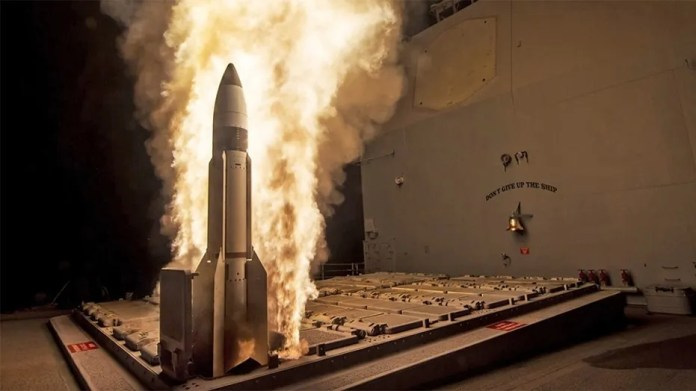 File image showing a test of an SM-3 interceptor. A test of the missile defense system failed on Wednesday.