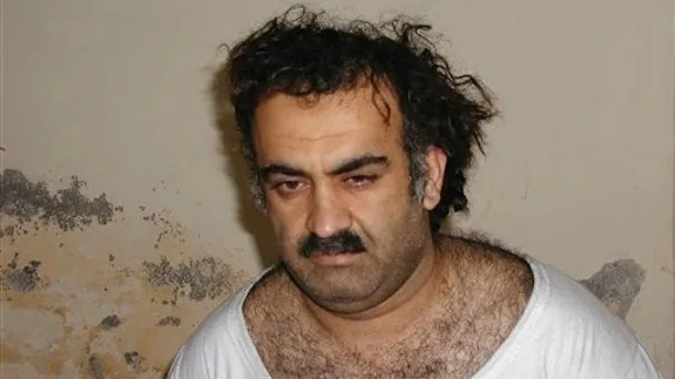 FILE - In this March 1, 2003 file picture, Khalid Sheikh Mohammed is seen shortly after his capture during a raid in Pakistan. An Obama administration official said Friday Nov. 13, 2009 that accused Sept. 11 mastermind Khalid Sheikh Mohammed and four other Guantanamo Bay detainees will be sent to New York to face trial in a civilian federal court.  (AP Photo/File)
