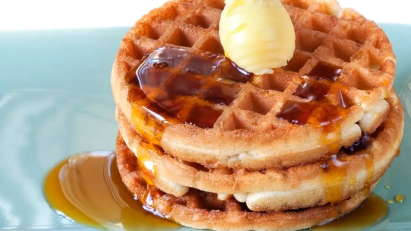 A Georgia man is accused of stealing 150 pounds of waffle mix.