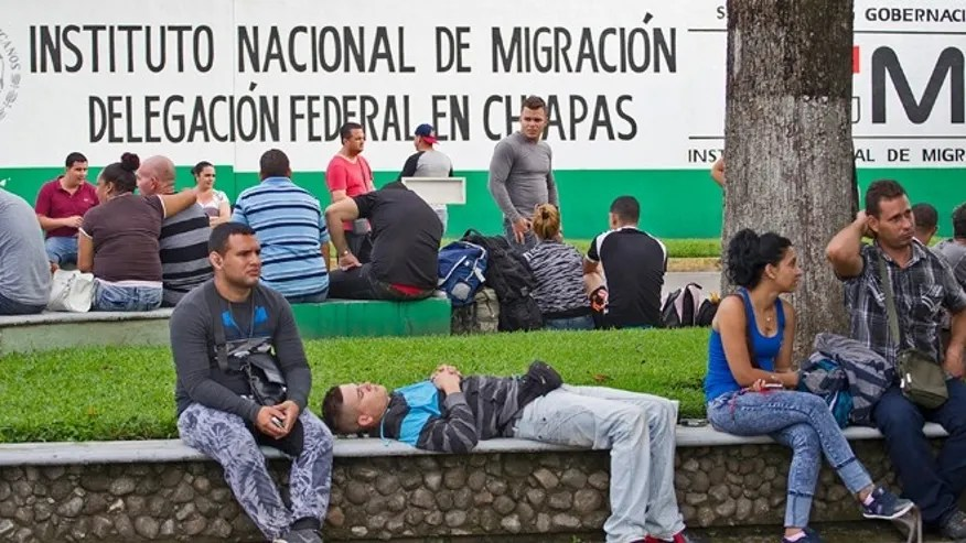 Image result for photo of migrants crossing guatemala heading for u.s.