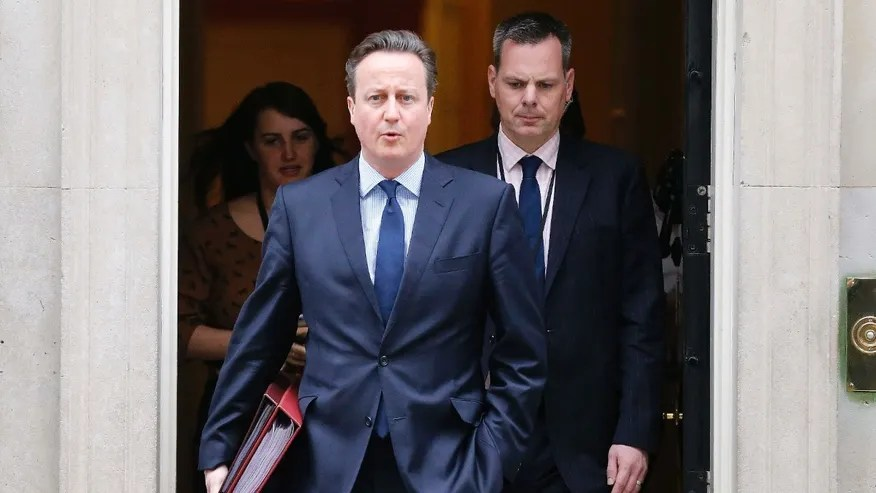 March 23, 2016: Britain's Prime Minister David Cameron leaves 10 Downing Street for Prime Minister Questions at the Houses of Parliament in London.