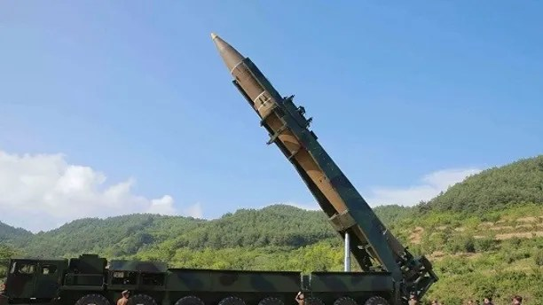 In this photo distributed by the North Korean government,  North Korean leader Kim Jong Un, second from right, inspects the preparation of the launch of a Hwasong-14 intercontinental ballistic missile, ICBM, in North Korea's northwest Tuesday, July 4, 2017. Independent journalists were not given access to cover the event depicted in this photo. North Korea claimed to have tested its first intercontinental ballistic missile in a launch Tuesday, a potential game-changing development in its push to militarily challenge Washington — but a declaration that conflicts with earlier South Korean and U.S. assessments that it had an intermediate range. (Korean Central News Agency/Korea News Service via AP)