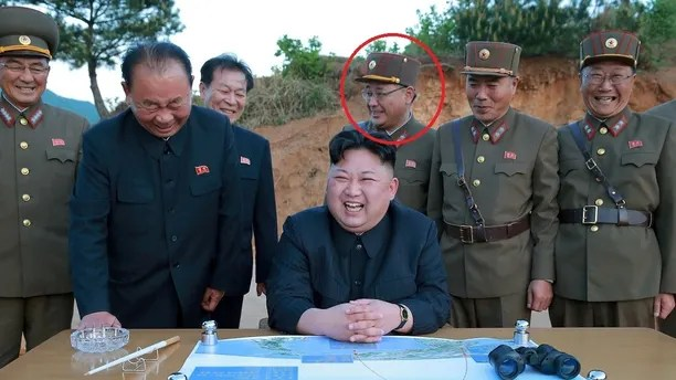 FILE PHOTO - North Korean leader Kim Jong Un reacts during the long-range strategic ballistic rocket Hwasong-12 (Mars-12) test launch in this undated photo released by North Korea's Korean Central News Agency (KCNA) on May 15, 2017. KCNA via REUTERS/File Photo   REUTERS ATTENTION EDITORS - THIS IMAGE WAS PROVIDED BY A THIRD PARTY. REUTERS IS UNABLE TO INDEPENDENTLY VERIFY THIS IMAGE. NO THIRD PARTY SALES. SOUTH KOREA OUT. - RC1AD24CEE00