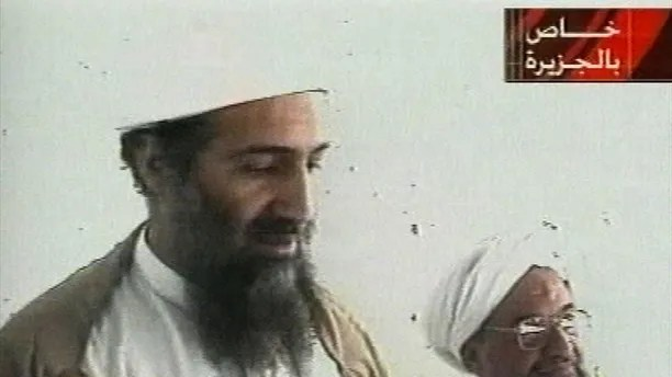 This image taken from video released by Qatar's Al-Jazeera televison broadcast on Friday Oct. 5, 2001 is said to show Osama bin Laden, the prime suspect in the Sept. 11, 2001 terrorist attacks on the U.S., at an undisclosed location. Al-Jazeera did not say whether the image was taken before or after the Sept. 11 attacks or how they obtained it. The Obama administration is releasing the last of three installments of documents belonging to Osama bin Laden that were found in the terrorist's secret compound in 2011. (AP Photo/Al-Jazeera via APTN)