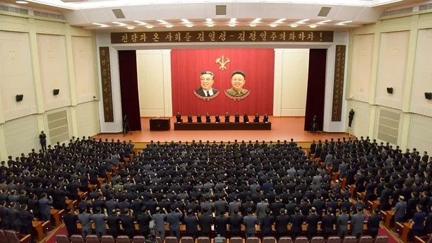 A meeting of DPRK of the central committee is held as they vow a sacred war against the U.S. during an anti-U.S. rally, in this undated photo released by North Korea's Korean Central News Agency (KCNA) in Pyongyang September 22, 2017. KCNA via REUTERS ATTENTION EDITORS - THIS PICTURE WAS PROVIDED BY A THIRD PARTY. REUTERS IS UNABLE TO INDEPENDENTLY VERIFY THIS IMAGE. NO THIRD PARTY SALES. SOUTH KOREA OUT. - RC12D9F8CC20