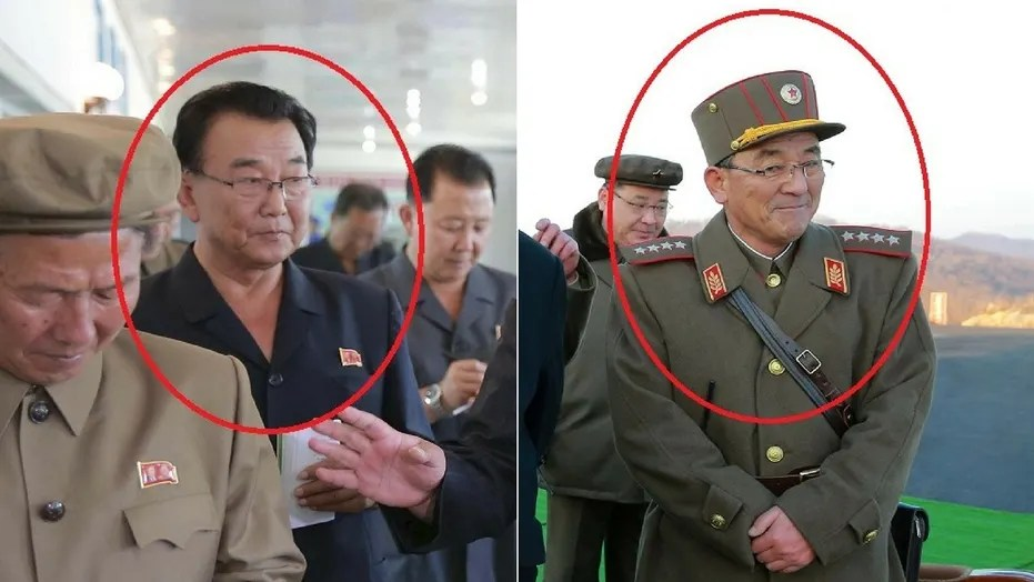 Ri Man-gon (left) and Kim Rak-gyom (right) were reportedly missing from recent public events, fueling speculation there could be another missile launch soon.
