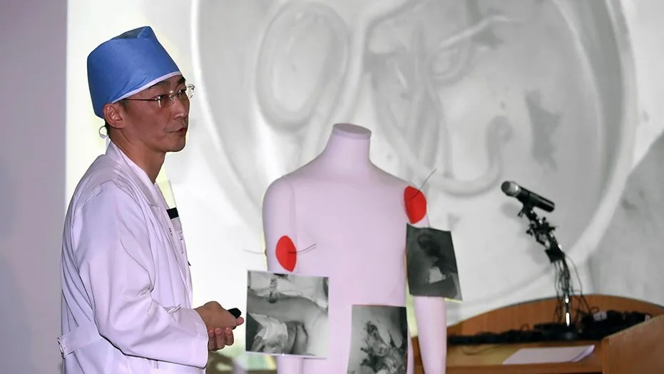 Surgeon Lee Cook-jong said he had 'not found parasites this big in the intestines of South Koreans.