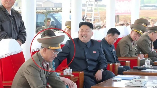 Vice Marshall Hwang Pyong So (bottom L), in full Korean People?s Army uniform, watches an air show by the Korean People?s Air Force with North Korean leader Kim Jong Un (C) on May 10, 2014 in this photo released by North Korea's Korean Central News Agency (KCNA). Hwang Pyong So, now a top military aide to the North's leader Kim Jong Un, has had an unprecedented rise to the top rungs of North Korea's leadership in the space of a few years. With intense speculation on the whereabouts of Kim after his disappearance from official media for over a month, Hwang is even more in focus.    REUTERS/KCNA (NORTH KOREA - Tags: POLITICS MILITARY) ATTENTION EDITORS - THIS PICTURE WAS PROVIDED BY A THIRD PARTY. REUTERS IS UNABLE TO INDEPENDENTLY VERIFY THE AUTHENTICITY, CONTENT, LOCATION OR DATE OF THIS IMAGE. FOR EDITORIAL USE ONLY. NOT FOR SALE FOR MARKETING OR ADVERTISING CAMPAIGNS. NO THIRD PARTY SALES. NOT FOR USE BY REUTERS THIRD PARTY DISTRIBUTORS. SOUTH KOREA OUT. NO COMMERCIAL OR EDITORIAL SALES IN SOUTH KOREA. THIS PICTURE IS DISTRIBUTED EXACTLY AS RECEIVED BY REUTERS, AS A SERVICE TO CLIENTS - GM1EAA90O8401