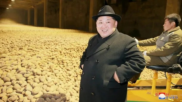 North Korea's leader Kim Jong Un is seen during the inspection of a potato flour factory in this undated photo released by North Korea's Korean Central News Agency (KCNA) in Pyongyang December 6, 2017. KCNA/via REUTERS  ATTENTION EDITORS - THIS PICTURE WAS PROVIDED BY A THIRD PARTY. REUTERS IS UNABLE TO INDEPENDENTLY VERIFY THE AUTHENTICITY, CONTENT, LOCATION OR DATE OF THIS IMAGE. NO THIRD PARTY SALES. SOUTH KOREA OUT. - RC17145E6230