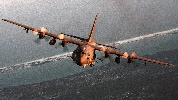 An Air Force A-130 gunship in an undated photo.