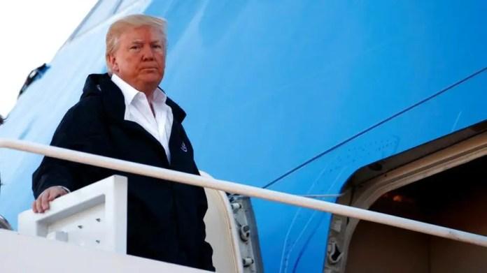 President Trump speaks before departing for Puerto Rico.