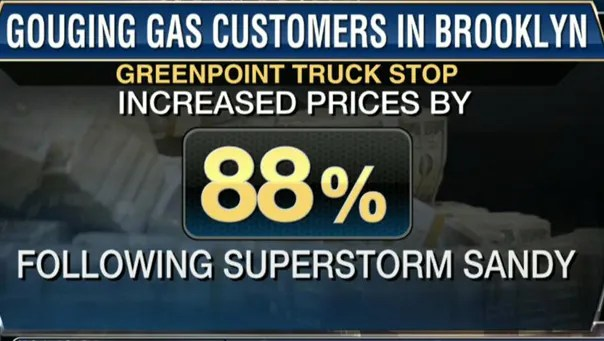 Preventing Price Gouging of Storm Victims